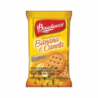 1018 - sachê biscoito banana com canela Bauducco 400 x 13,9g