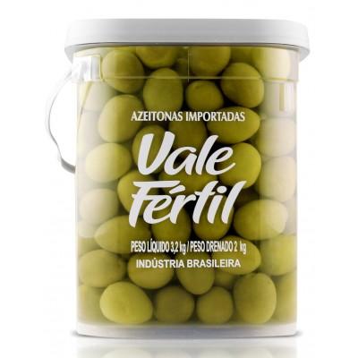 1040 - azeitona verde média Vale Fértil 2kg 20/24
