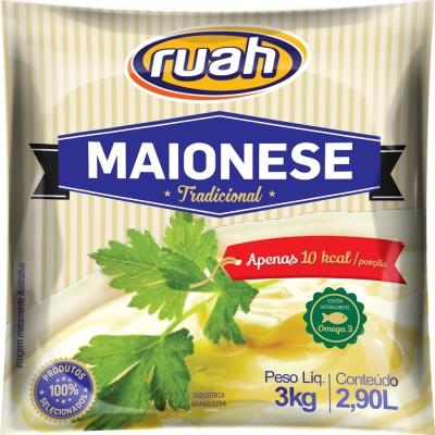 1068 - maionese Ruah bag 3kg 4,5% de lipídios
