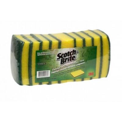 1103 - esponja dupla face verde a amarela 3M Scotch-Brite 10un