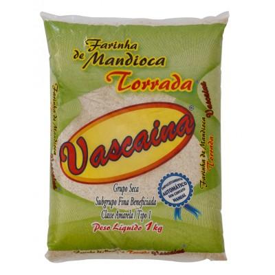 1119 - Farinha de mandioca torrada Vascaína 1kg plástico