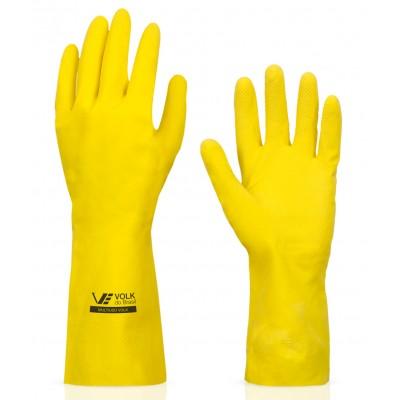 1157 - luva Látex multiuso amarela média Volk par