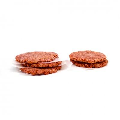 1262 - hambúrguer bovino Wessel 110g diâmetro 12/espessura 2cm caixa 6kg