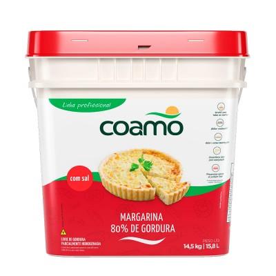 1272 - margarina com sal 80% lipídios Coamo 14,5kg