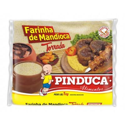 1303 - Farinha de mandioca torrada Pinduca 1kg plástico