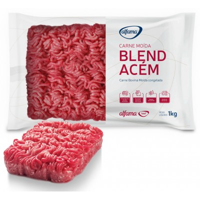 1346 - bovino - carne moída congelada blend acem Alfama pacote 1kg