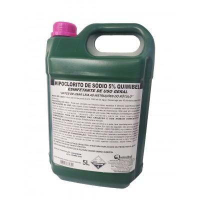 1363 - cloro líquido - hipoclorito de sódio 5% - quimibel 5L
