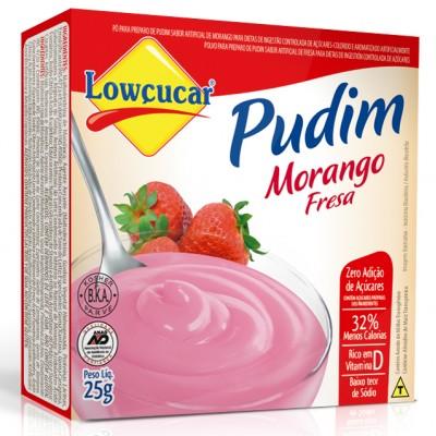 1400 - pudim diet Lowçúcar morango 25g
