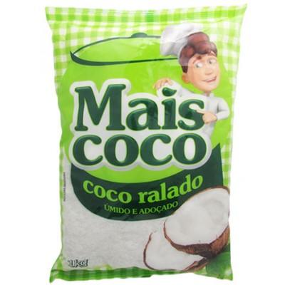 1418 - coco ralado úmido e adoçado Mais Coco 1kg