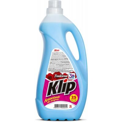 1442 - amaciante de roupa Klip azul 2L