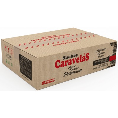 1485 - sachê açúcar Caravelas 1.000 x 5g