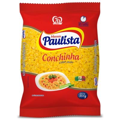 1538 - macarrão conchinha ovos Paulista 500g
