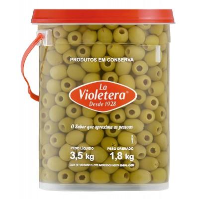 1558 - azeitona verde s/caroço La Violetera 1,8kg