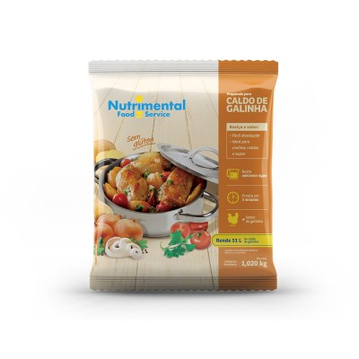 1562 - caldo de galinha Nutrimental 1,02kg rende 52L