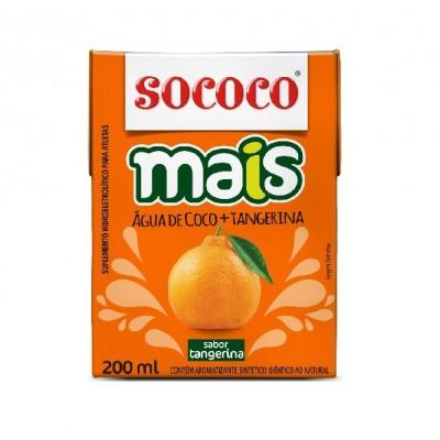 1621 - água de coco com tangerina Sococo 24 x 200ml