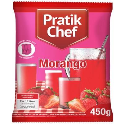 1628 - refresco morango Pratik chef 450g rende 15lt