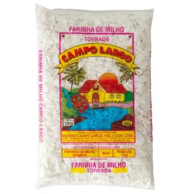 1674 - Farinha de milho branco biju Campo Largo 1kg