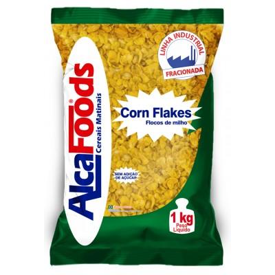 1715 - Corn Flakes flocos de milho sem açúcar Alca Foods 1kg