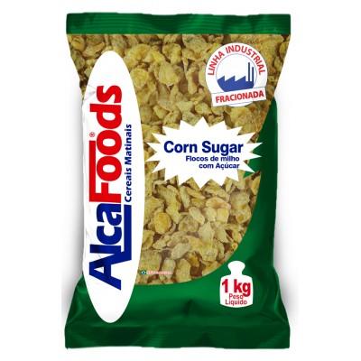 1716 - Corn Flakes flocos de milho com açúcar Alca Foods 1kg