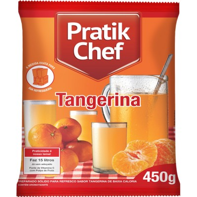 1728 - refresco tangerina Pratik chef 450g rende 15lt