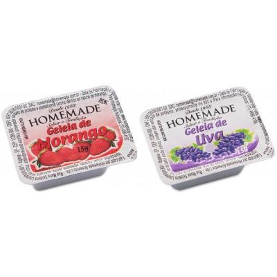 1766 - blister geléia morango e uva Homemade 144 x 15g