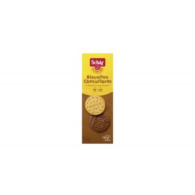 1817 - biscoito chocofibras com cobertura de chocolate 3 x 50g sem glúten Schär 150g