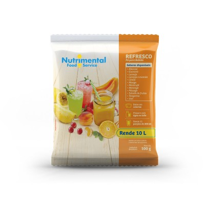 1854 - refresco laranja Nutrimental 100g rende 10L