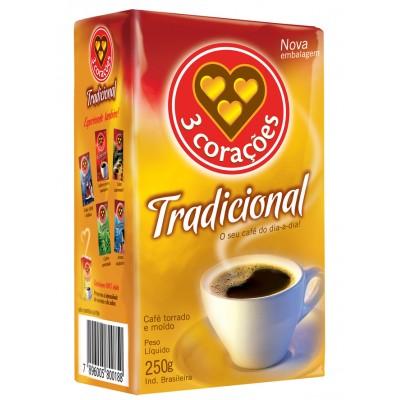 1986 - café tradicional 3 Corações vácuo 250g