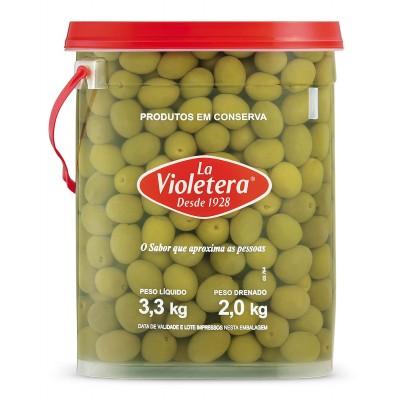 2016 - azeitona verde média La Violetera 2kg 20/24