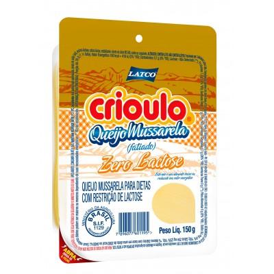 2047 - queijo mussarela fatiado zero lactose Crioulo 150g