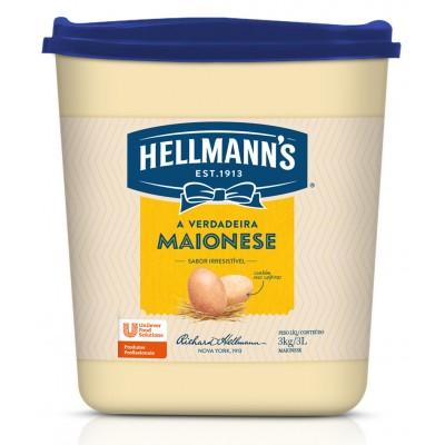 2066 - maionese Hellmann's balde 3kg 33% de lipídios