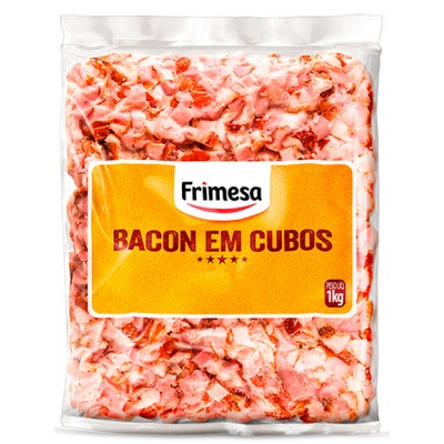 2111 - suíno - bacon cubos congelado Frimesa 1kg