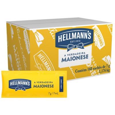 2112 - sachê maionese Hellmann's 168 x 7g 33% de lipídios