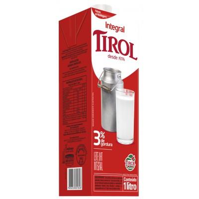 2163 - leite integral Tirol tampa rosca 1L