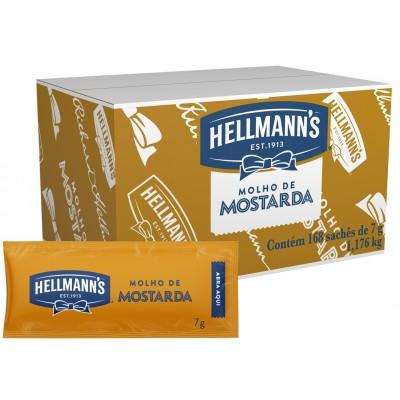 2184 - sachê mostarda amarela Hellmann's 168 x 7g