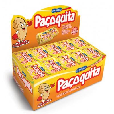 2314 - doce Paçoquita tablete embalada Santa Helena 50 x 20g