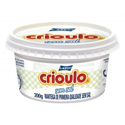 2322 - manteiga sem sal Crioulo pote 200g