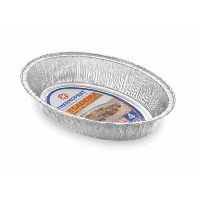 2373 - assadeira alumínio oval 4.000ml Thermoprat 39 x 29cm