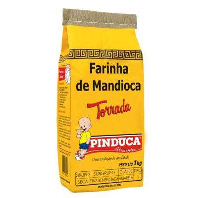 2412 - Farinha de mandioca torrada Pinduca 1kg papel