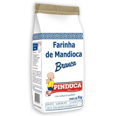 2413 - Farinha de mandioca branca Pinduca 1kg papel
