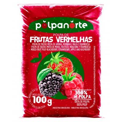 2435 - polpa de frutas vermelhas Polpa Norte 10 x 100g