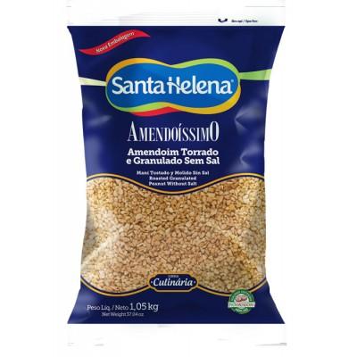 2450 - amendoim torrado granulado s/pele Santa Helena 1,05kg