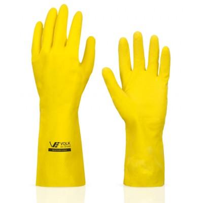 2567 - luva Látex multiuso amarela grande Volk par