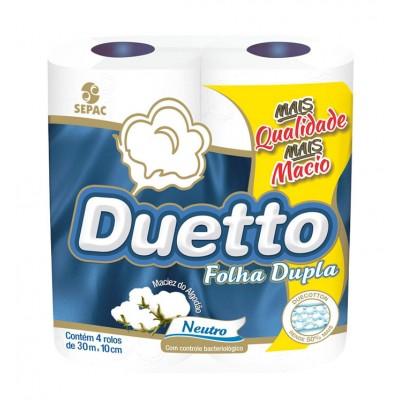 2594 - papel higiênico folha dupla Duetto 4 x 30mt
