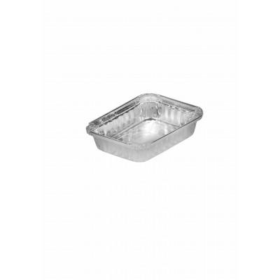 2701 - bandeja alumínio 230ml retangular com tampa Thermoprat 200un