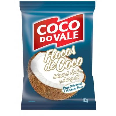 2736 - coco flocos úmido e adoçado Coco do Vale 1kg