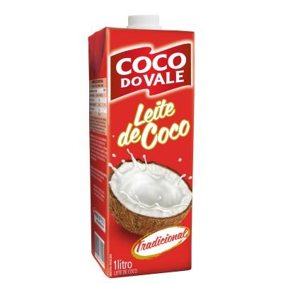 2738 - leite coco 20% gordura Coco do Vale TP 1L tradicional
