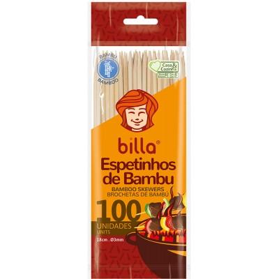 2793 - espeto de bambu Billa 18cm 3mm 100un