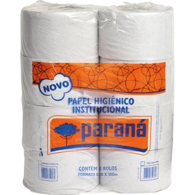 2800 - papel higiênico rolão folha simples Paraná 8 rolos x 300mt x 10cm