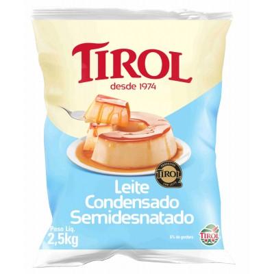 2818 - leite condensado semidesnatado Tirol 2,5kg